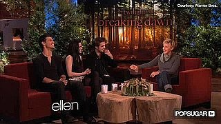 Robert Pattinson, Kristen Stewart, and Taylor Lautner on Ellen