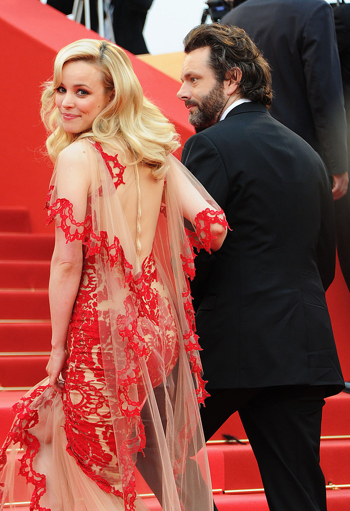 Rachel flashed a smile while walking in Cannes with Michael Sheen in 2011.