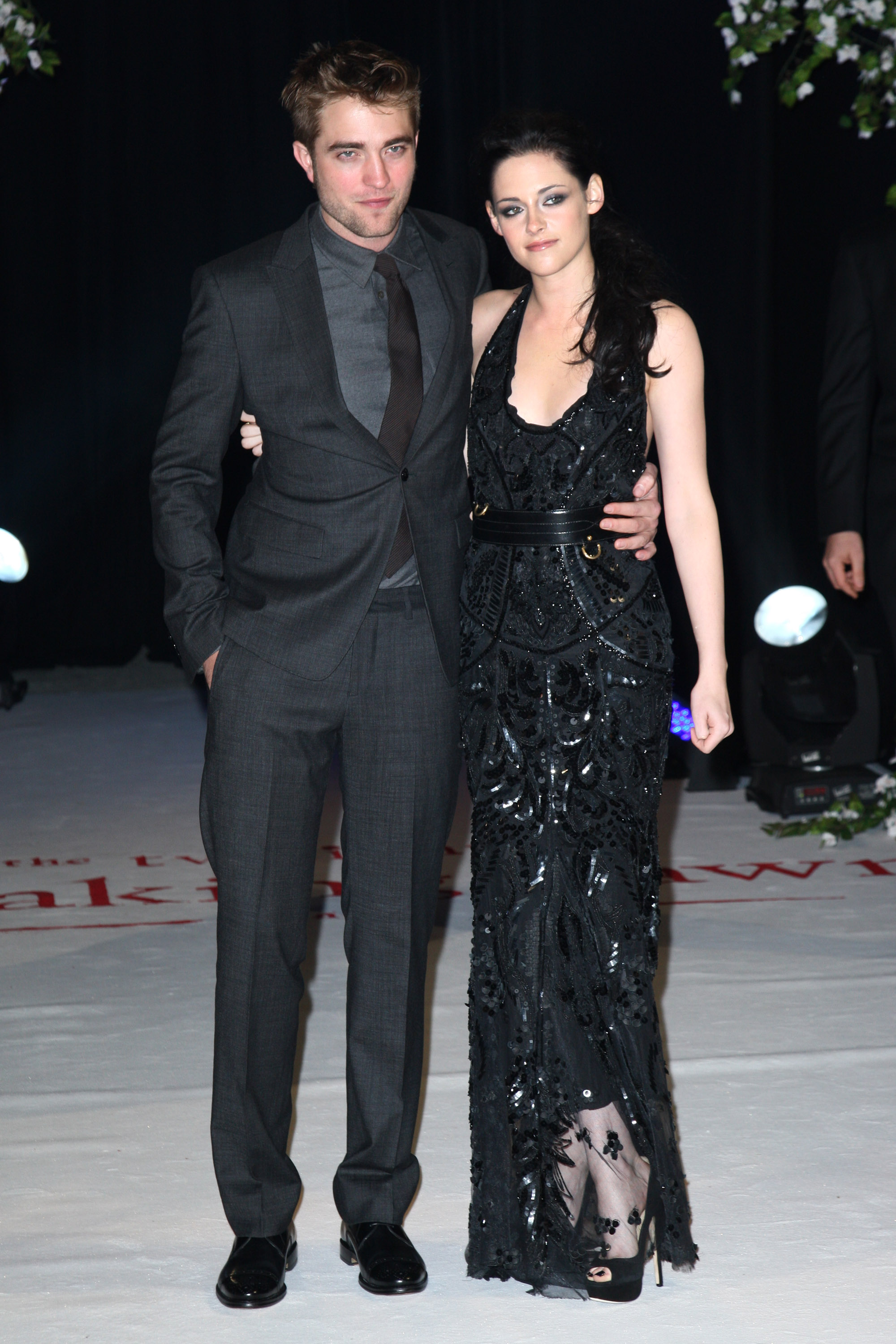 Robert Pattinson and Kristen Stewart at the UK premiere of Breaking Dawn Part 1.