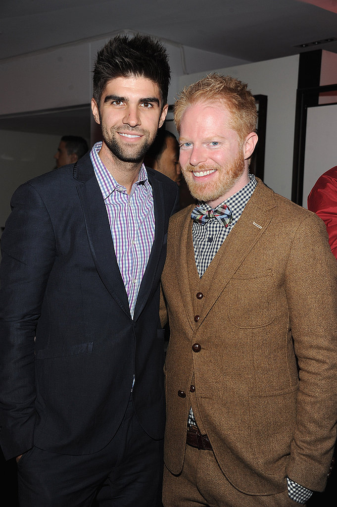 Jesse Tyler Ferguson and Justin Mikita at Lady Gaga's Workshop at Barneys.