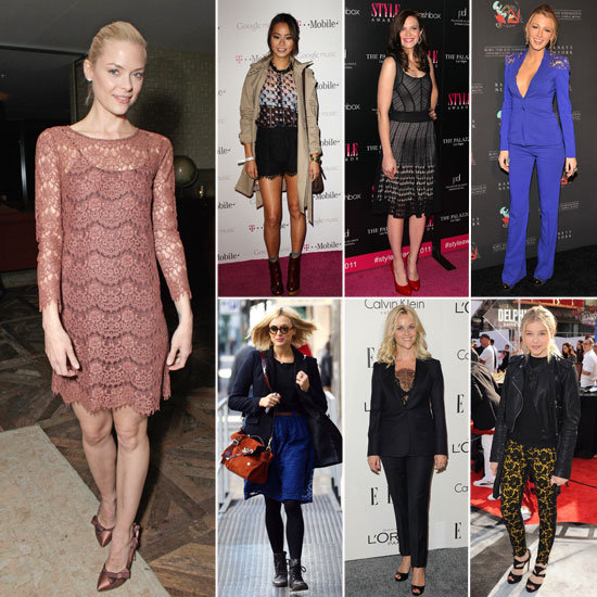 Celebrities in Lace Fall 2011