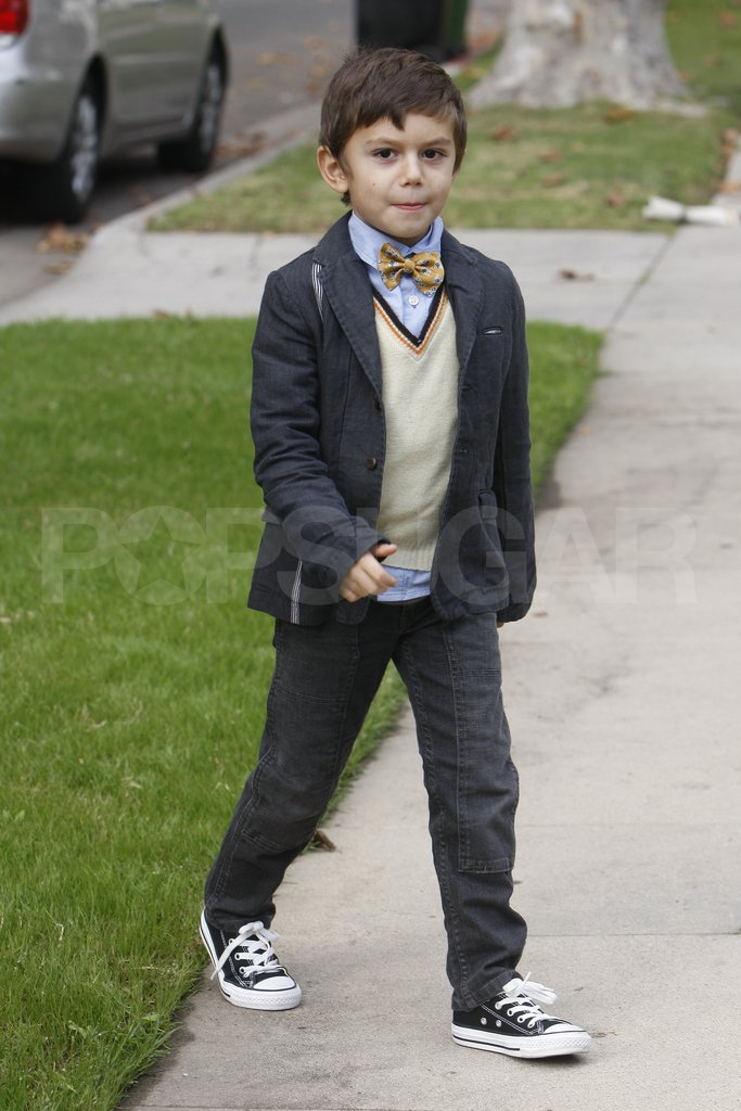 Kingston Rossdale headed to Thanksgiving.