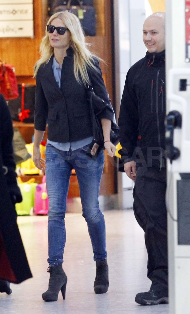 Gwyneth Paltrow wearing jeans in London.
