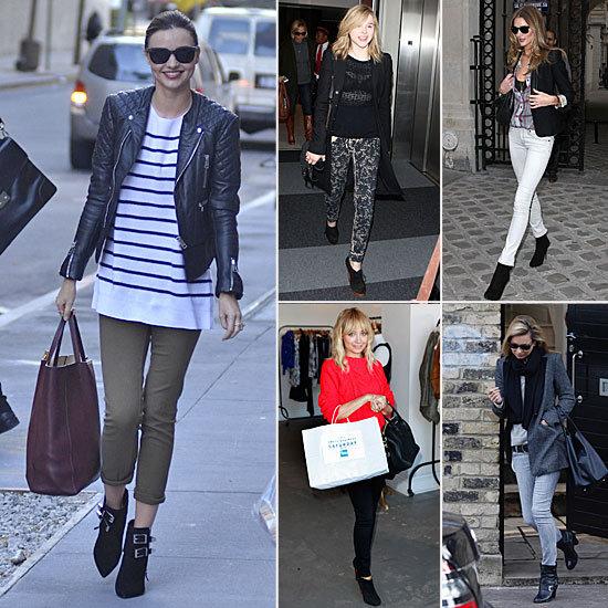 Celebrities Wearing Booties Winter 2011