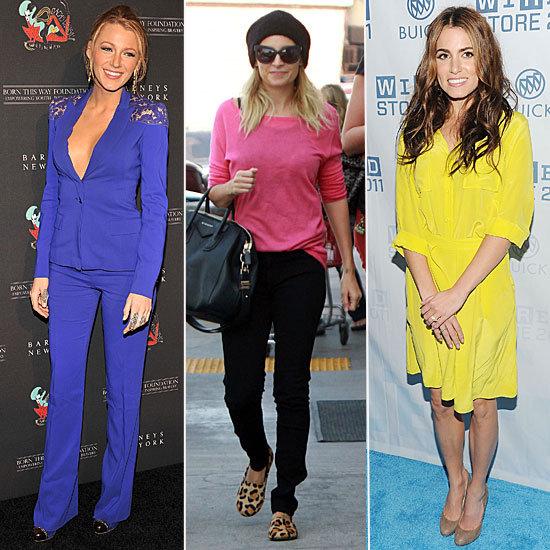 Celebrities Wearing Bright Colors Winter 2011