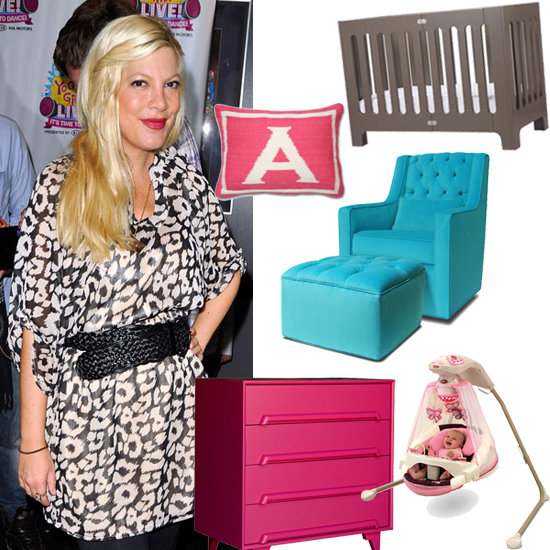 Steal the Look: Tori Spelling's Hot Pink and Gray Nursery For Baby Hattie