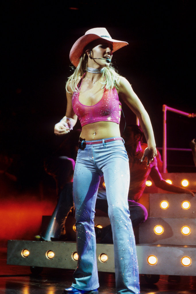 Britney Spears rocked a cowgirl hat and midriff in June 2000.