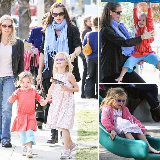 Jennifer Garner, Violet, and Seraphina Wrap Up Their Weekend With an Adorable Park Day