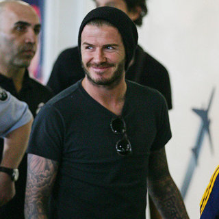 David Beckham at Melbourne Airport Pictures