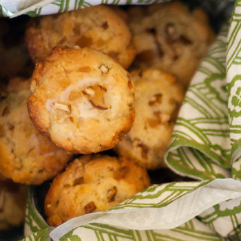 Corn Muffins With Pear and Candied Ginger