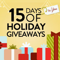 Enter Our 15 Days of Holiday Giveaways!