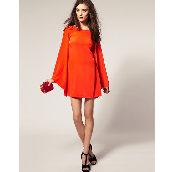 Flared Sleeve Chiffon Dress