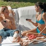 Shirtless Justin Bieber and Selena Gomez in Blue Bikini in Cabo, Mexico