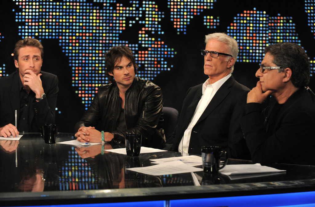 Ian Somerhalder, a Louisiana native, took the disaster in the Gulf very seriously and agreed to participate in the Larry King Live: Disaster in the Gulf Telethon from the LA studios in June 2010.