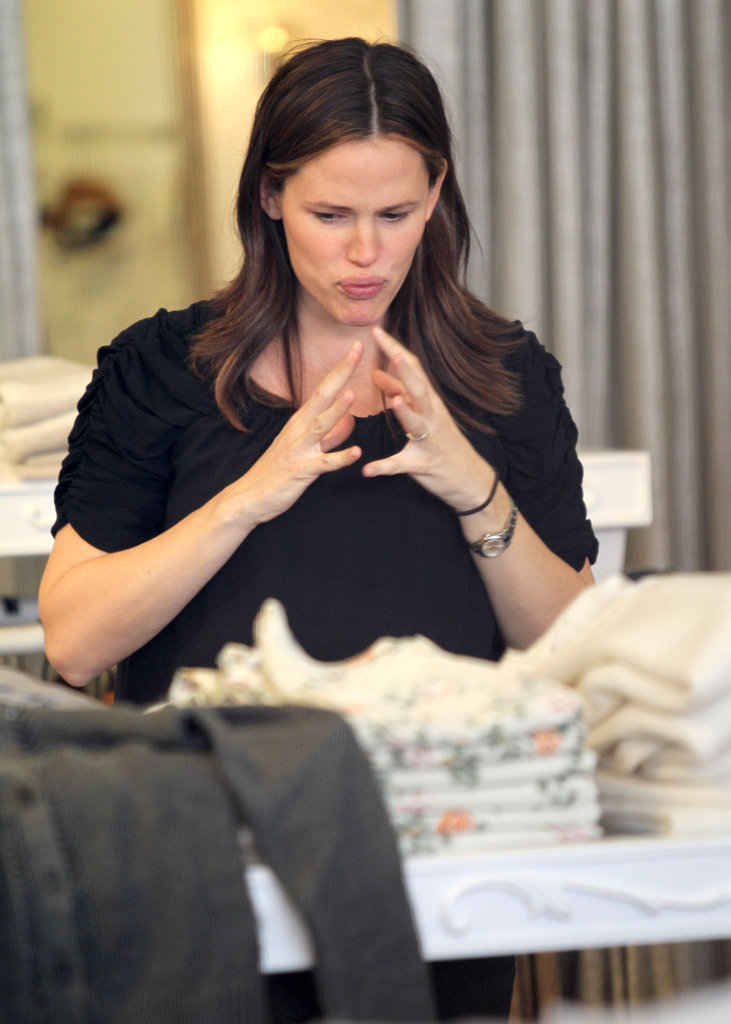 Jennifer Garner thought carefully about each purchase.