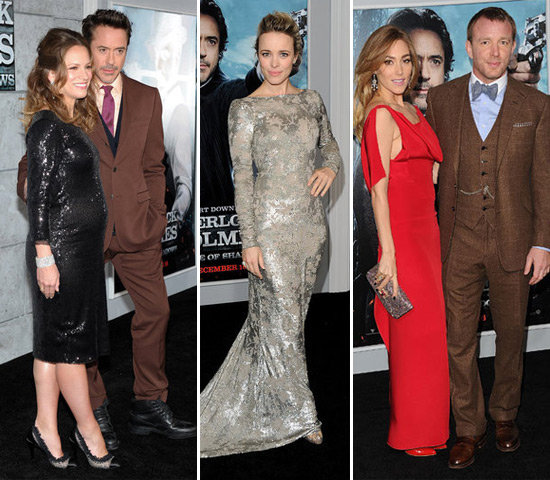 Rachel Joins RDJ and Guy at the Sherlock Holmes Premiere