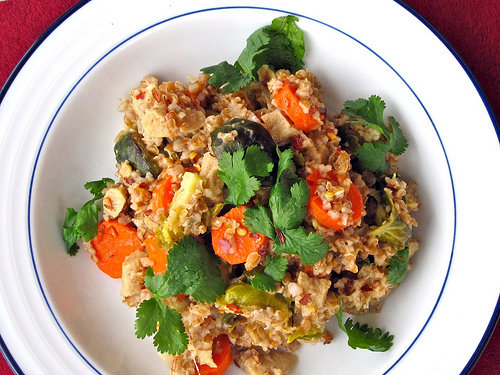 Barley Risotto With Winter Veggies and Chick'n