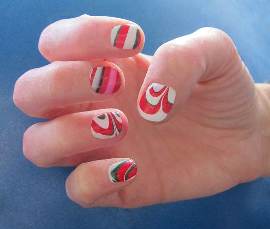 How to Do a Holiday Marble Manicure