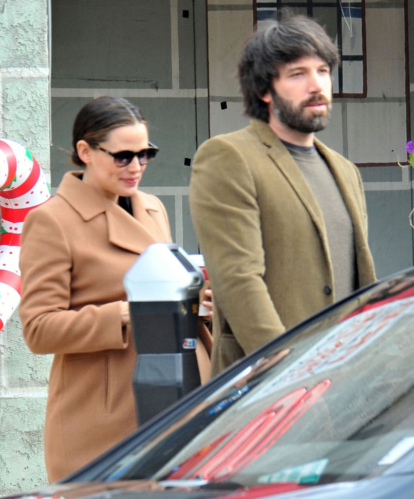 Ben and Jen teamed up for early morning errands.