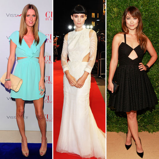 Celebrities Wearing Cutout Dresses 2011