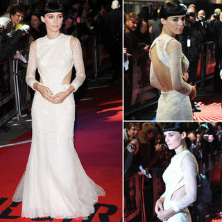 Pictures of Rooney Mara in Givenchy Couture Gown at the World Premiere of Girl With The Dragon Tattoo in London from all angles