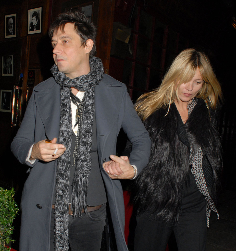 Kate Moss and Jamie Hince left dinner in the West End.
