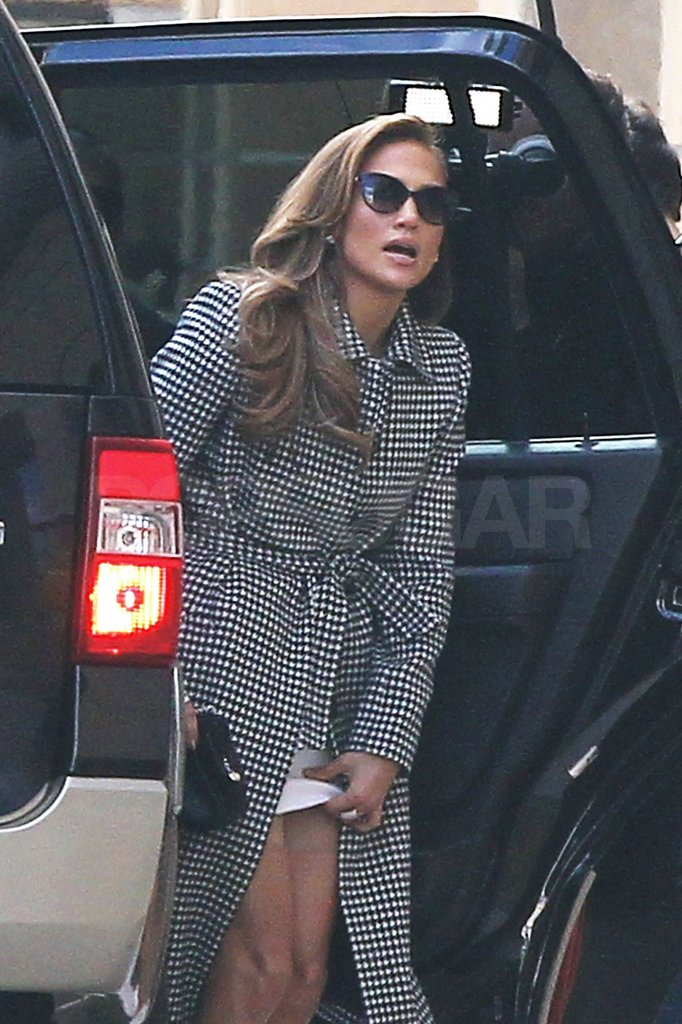 J Lo looked chic and ready to do work on her latest day of judging.
