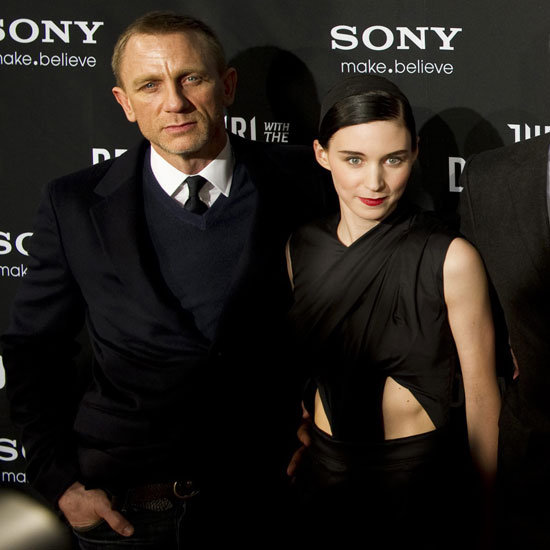 Daniel Craig and Rooney Mara both picked black for the premiere.