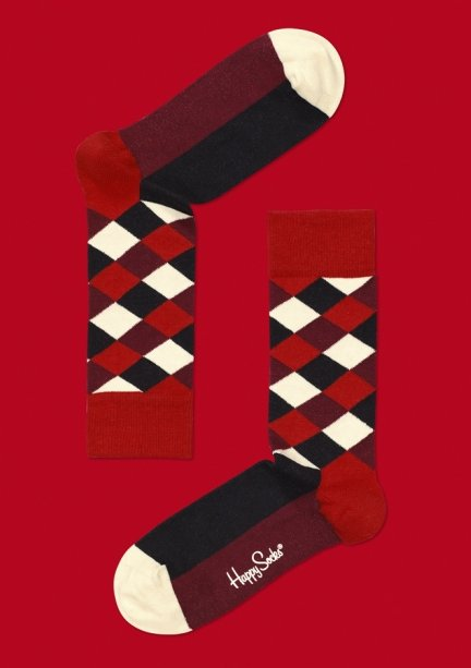 """I fill my man's stocking with these socks; they are the boldest, most fun prints, they're really soft, and they can jazz up his outfits."" — Noria Morales, editor  Happy Socks ($12)"