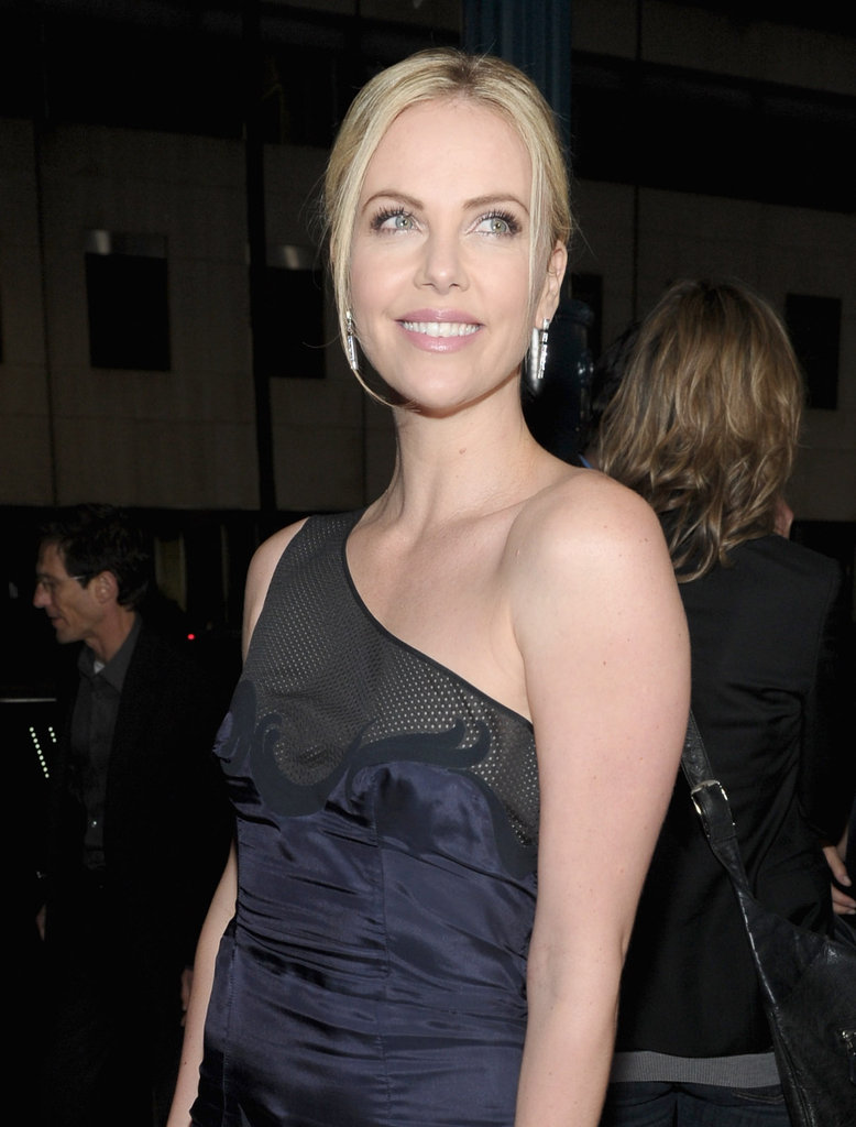 Charlize Theron was radiant at the LA premiere of Young Adult.