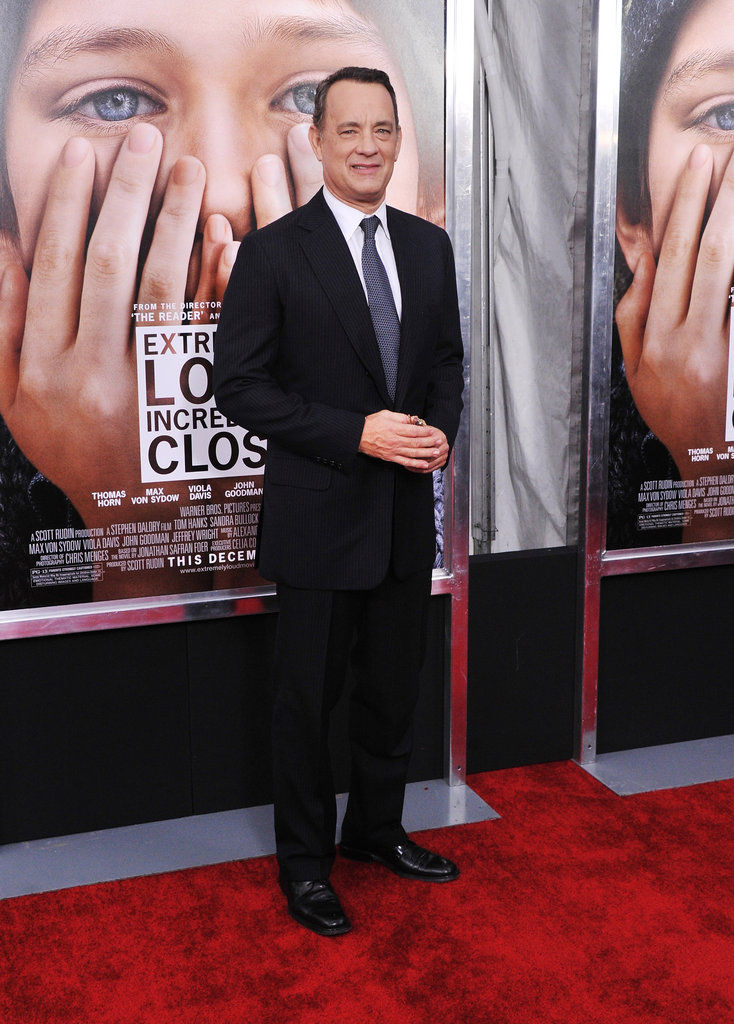 Tom Hanks was happy at the NYC premiere of Extremely Loud and Incredibly Close.