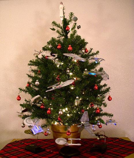 Star Trek and Star Wars Christmas Tree