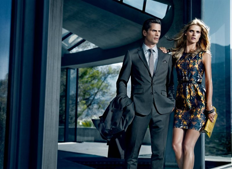 High-stakes glamour dominates the Hugo Boss Spring 2012 ads. Source: Fashion Gone Rogue