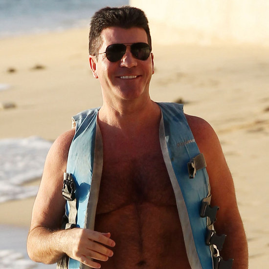 Simon Cowell Shirtless Pictures Jet Skiing in Barbados
