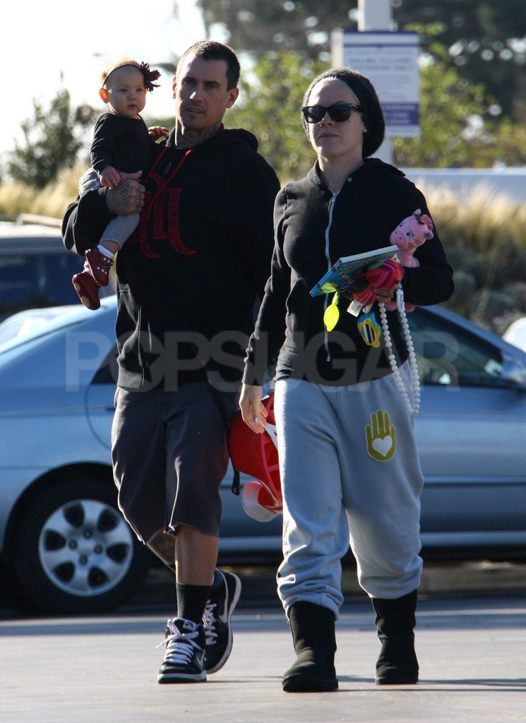 Pink and Carey Hart got an early start to the day in LA.