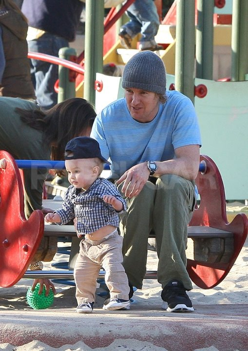Owen Wilson spent the afternoon with his son, Robert.