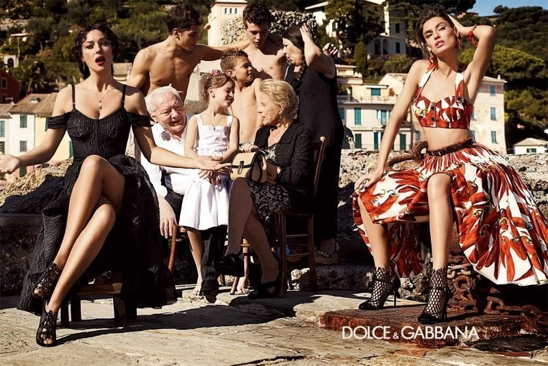 Va-va-voom glamour shines through in Dolce & Gabbana's ads. Source: Fashion Gone Rogue