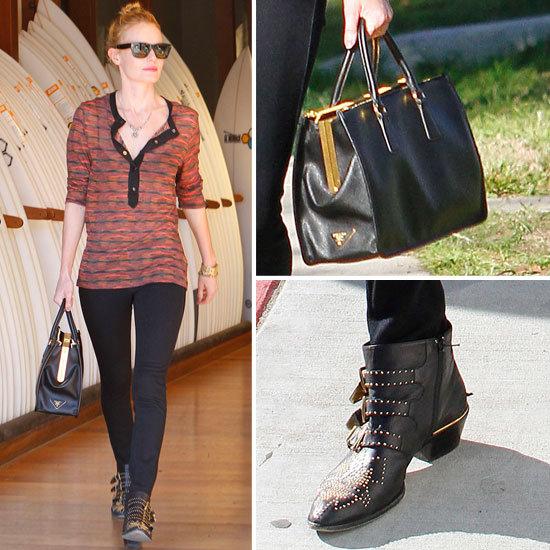 Kate Bosworth Carrying Prada Bag With Michael Polish in LA