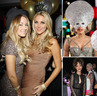 Pictures of Celebrities on New Year's Eve: See Lauren Conrad, Lady Gaga, Kim Kardashian Celebrate 2012 in Style!