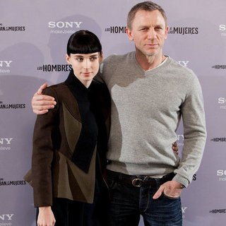 Rooney Mara and Daniel Craig Continue Their Girl With a Dragon Tattoo Tour in Madrid