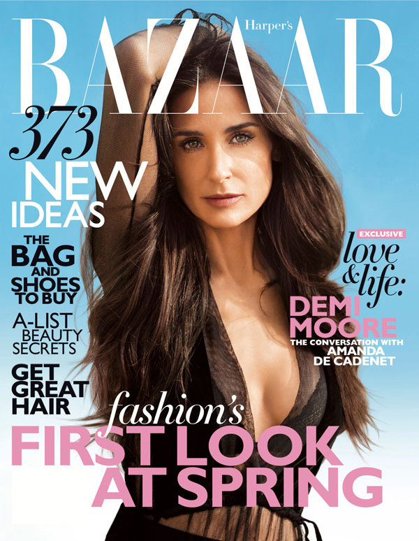 Demi Moore Spills On Relationships, Body Image & Freedom in Harper's BAZAAR's February 2012 Issue