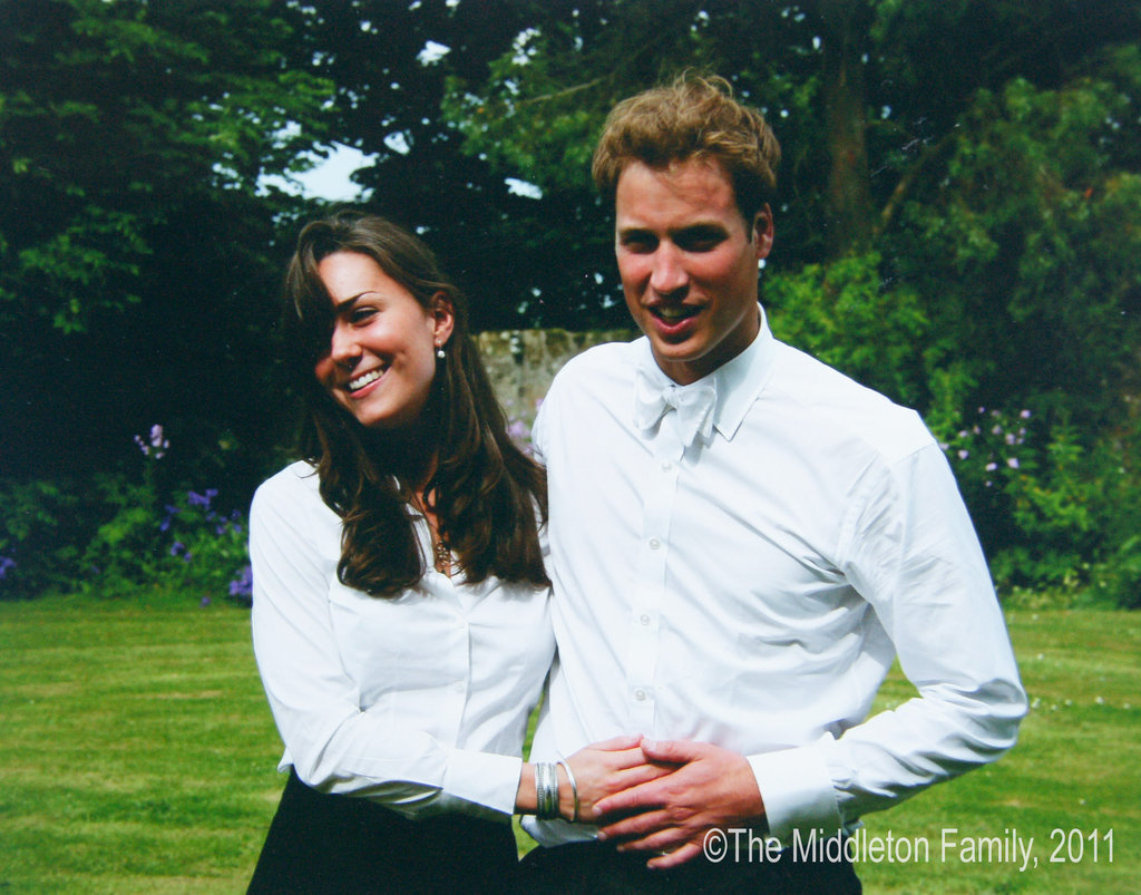Kate and William matched in white shirts after their university graduation in 2003.   © The Middleton Family, 2011. All rights reserved.