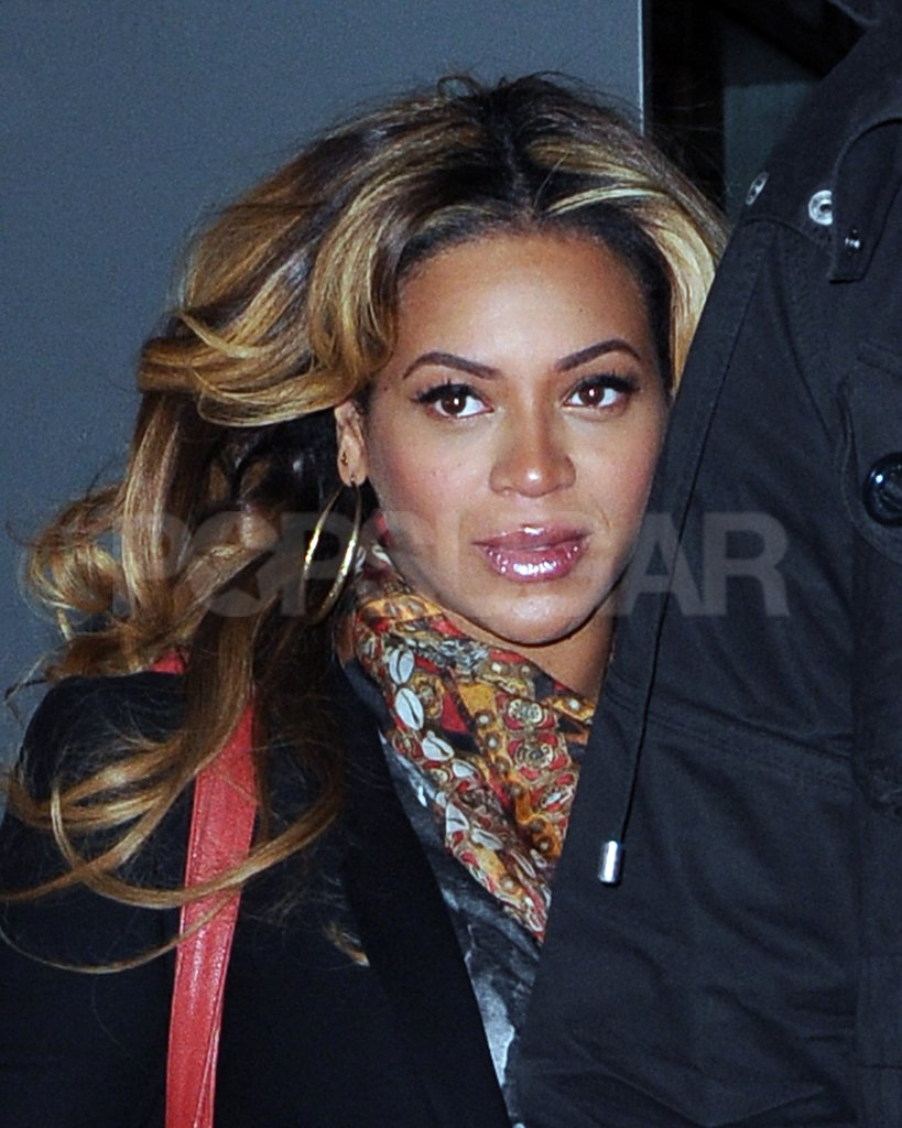Beyoncé Knowles was glowing after a meeting.