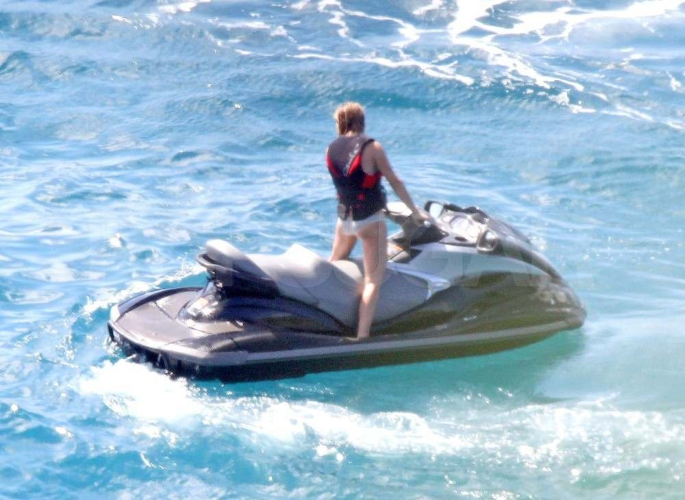 Julianne Hough on a jet ski.