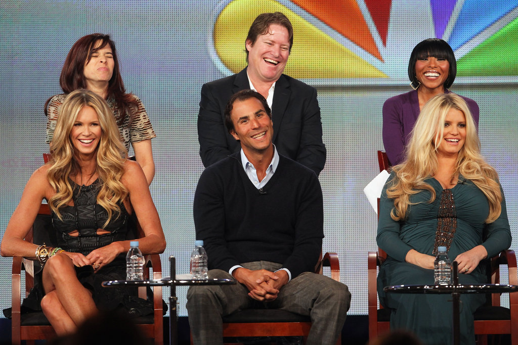 Jessica Simpson and Elle Macpherson promoting Fashion Star.