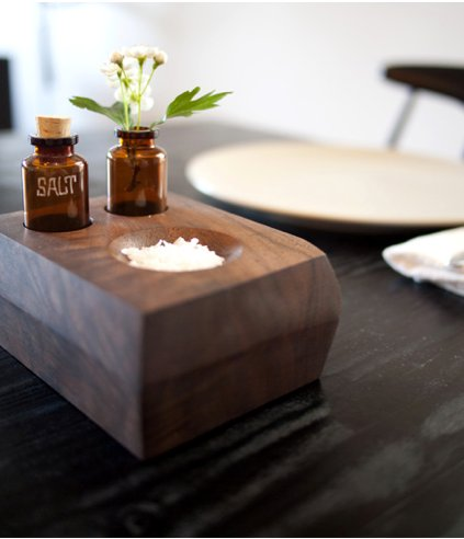 This salt dish and bud vase would be an amazing hostess gift. Source: Design*Sponge