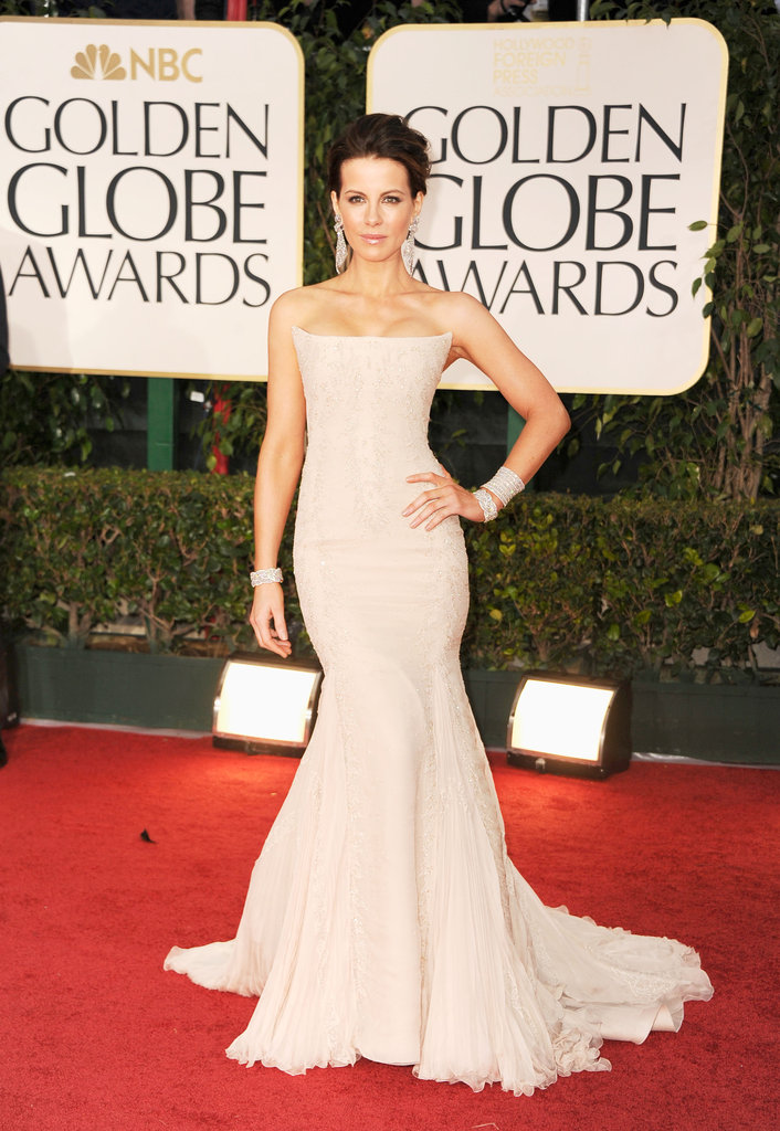 Kate Beckinsale at the Golden Globes.