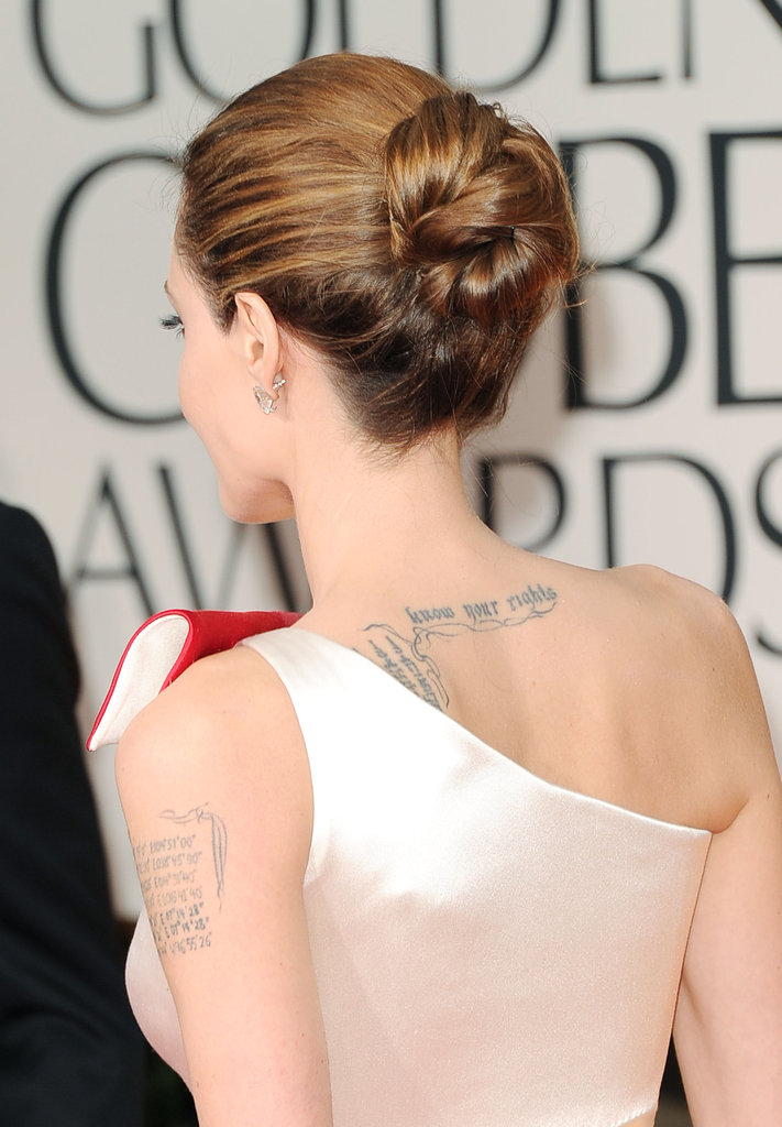 Angelina Jolie's hair at the Golden Globes.