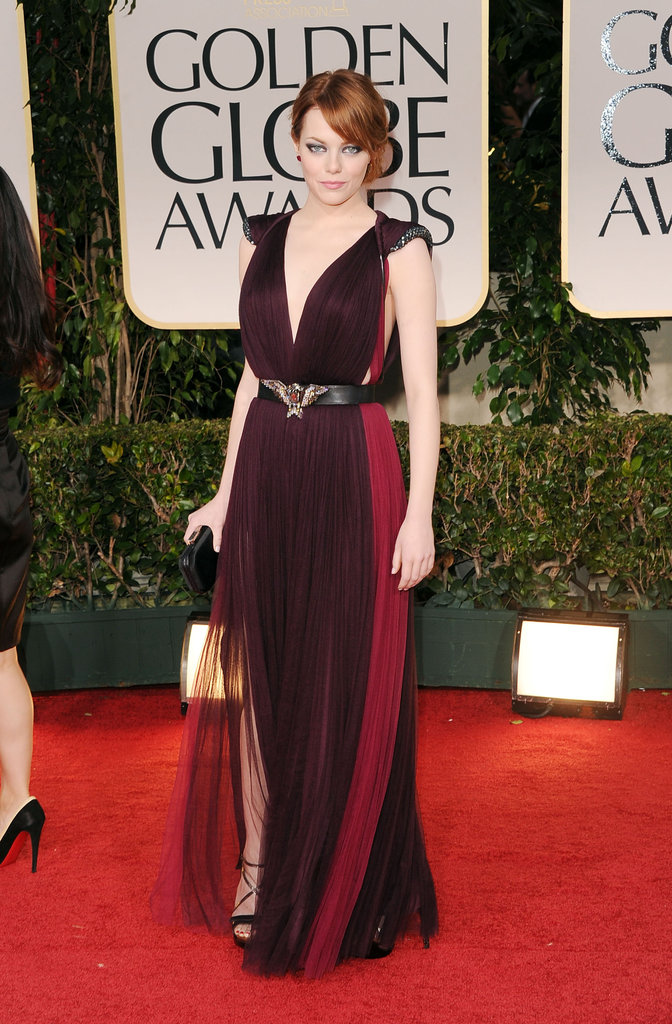 Emma Stone Looks Lovely in Lanvin at the Golden Globes