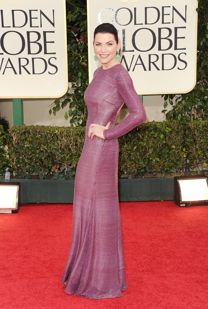 Julianna Margulies in Purple at Golden Globes 2012 ...